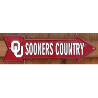 Oklahoma University Sooners Country Metal Sign College Football Basketball B35
