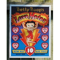 Betty Boop Love Heart Meter Tin Metal Sign Valentine gift Classic Arcade 14