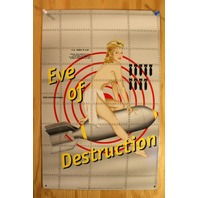 Eve Of Destruction Tin Sign USA Bomber Military Pin Up Air Force Tattoo Art G104