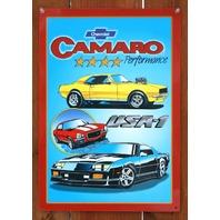 Chevrolet Camaro USA-1 Tin Metal Sign Iroc Z  Z28 SS Super Sport Chevy 350 C92