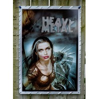 Heavy Metal Magazine New York Statue of Liberty Tin Metal Sign Comic Pinup 13A