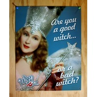 Good Witch or Bad Witch Wizard of Oz Tin Sign Movie Poster Ruby Shoes Dorthy D59