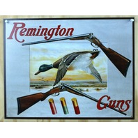Remington Guns Tin Sign Rifle Pistol Ammo Duck Hunting Ammunition Mallard B23