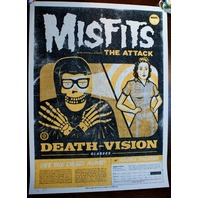 Misfits Gig Poster Print By Clark Orr S/N Limited to 120 Punk Rock Art Cleveland