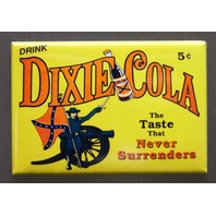 Dixie Cola Refrigerator Fridge Magnet Soda Pop South Dixie Confederate Flag F11