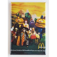 McDonalds Mascots Refrigerator Fridge Magnet Hamburglar Ronald McDonald Fries G7