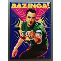 Sheldon Cooper BAZINGA! The Big Bang Theory Refrigerator FRIDGE MAGNET J19