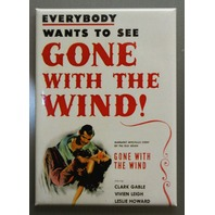 Gone With The Wind Refrigerator FRIDGE MAGNET Movie Poster Clark Gable O20