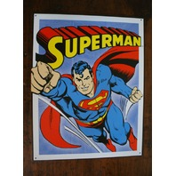 Superman Tin Metal Sign DC Comics Comic Books Flying Clark Kent Man of Steel D59