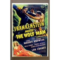 Frankenstein meets The Wolf Man Refrigerator FRIDGE MAGNET Lon Chaney H9