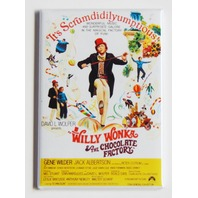 Willy Wonka & The Chocolate Factory Refrigerator Fridge Magnet Movie Poster N1