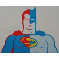 Composite Superman Batman Poster Print By Clark Orr Signed DC Comics Comic Book