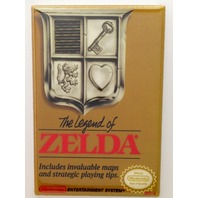 The Legend of Zelda refrigerator FRIDGE MAGNET nintendo nes game box shield