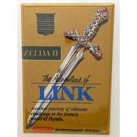 Adventure of Link refrigerator FRIDGE MAGNET Zelda 2 NES nintendo game box