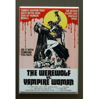 The Werewolf Vs. The Vampire Woman Refrigerator Fridge Magnet Movie Poster T9