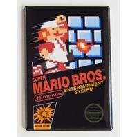 Super Mario Bros refrigerator FRIDGE MAGNET nes nintendo action series game H27