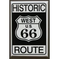 Historic US Route 66 Refrigerator Fridge Magnet Road Sign USA Americana A24