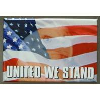 United We Stand Refrigerator Fridge Magnet USA Americana POW MIA Military US A11