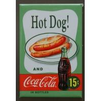 Hot Dog Coca Cola Refrigerator Fridge Magnet Coke Soda Pop Fountain Drink Ad B2