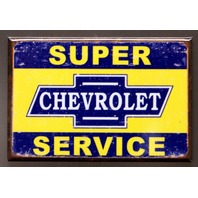 Chevrolet Super Service Refrigerator Fridge Magnet Camaro Corvette Chevy SS P5