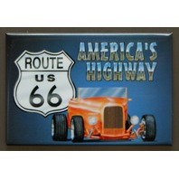 US Route 66 Americas Highway FRIDGE MAGNET Hot Rod Garage Mechanic Car Truck D10