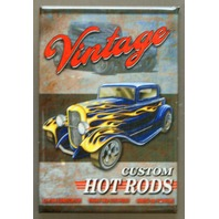 Vintage Custom Hot Rods FRIDGE MAGNET Garage Mechanic Humor Auto Repair E5