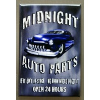 Midnight Auto Parts FRIDGE MAGNET Garage Mechanic Auto Repair Junk Yard Car E6