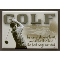 Worst Day Golfing Still Better Than The Best Days Working FRIDGE MAGNET Golf F11