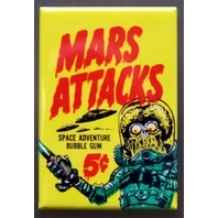 Mars Attacks Refrigerator Fridge Magnet Topps Wax Pack Sci Fi Comic Book L16