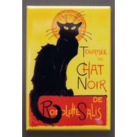 Tourne Du Chat Noir Refrigerator FRIDGE MAGNET Black Cat Art Deco Decor M3