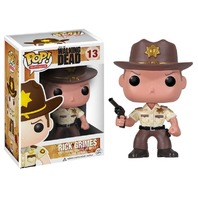 Walking Dead Sherriff Rick Grimes W Pistol Pop Vinyl TV Series Figure 13 Funko