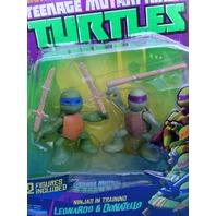 Leonardo n Donatello Turtles training Teenage Mutant Ninja Turtles Action Figure
