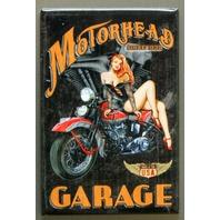Motorhead Garage FRIDGE MAGNET Hot Rod Garage Pin Up Girl Motorcycle F9