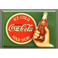 Ice Cold Coca Cola Sold Here FRIDGE MAGNET Coke Soda Pop Kitchen Decor  D7