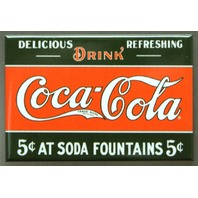 Drink Coca Cola FRIDGE MAGNET Coke Soda Fountains Pop Kitchen Decor B9