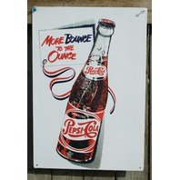 Pepsi Cola Bounce to Ounce Classic Tin Sign Garage Man Cave Soda Throwback 30a