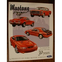 Ford Mustang Tin Metal Sign Fast Back Shelby GT 30 Year Pony Muscle Car S27