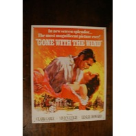 Gone With The Wind Poster Tin Sign Movie Film Hollywood Southern Clark Gable