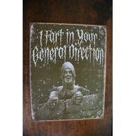 Monty Python knight  fart in your direction tin sign F11