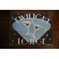Twilight Lounge Tin Metal Sign Martini Mix Drink Man Cave Bar Kitchen Beer S27