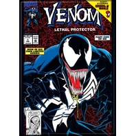 Venom #1 guest starring spiderman comic book superhero art FRIDGE MAGNET F32