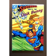 Superman Meets The Quik Bunny Refrigerator Fridge Magnet Nestle DC Comics  F3