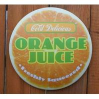 Citrus Juice Round Tin Metal Signs Set of 3 Lemonade Lemon Lime Orange Juice