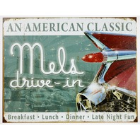 Mels Drive In An American Classic Tin Sign Breakfast Lunch Dinner Diner B33