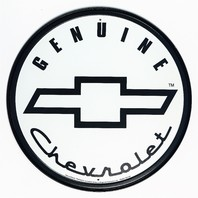 Genuine Chevrolet Tin Round Sign Man Cave Garage Chevy Motor Co Classic Logo B20