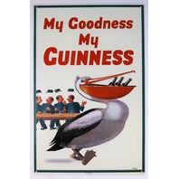 Guinness Beer Tin Sign Bar Garage Pelican Logo Man Cave Alcohol Business 16