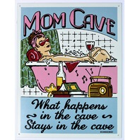 Mom Cave Tin Sign Country Kitchen Man Cave Home Decor Mother Birthday Humor