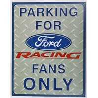 Parking for Ford Racing Fans Only Tin Sign Mustang Nascar Busch Race Garage B9