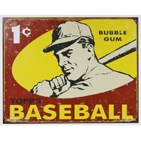 1959 Topps Wax Pack Baseball Cards Tin Sign Sox Dodgers Cardinals Yankees D108