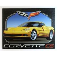 Chevy Corvette C6 Tin Metal Sign Stingray Chevrolet 350 454 V8